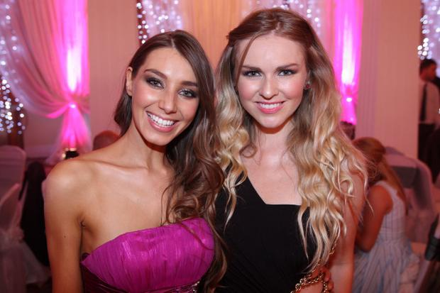 Katie Larmour and Zoe Salmon at the Sunday Life Spirit of Northern Ireland Awards. 21/06/12 Picture Mark McCormick