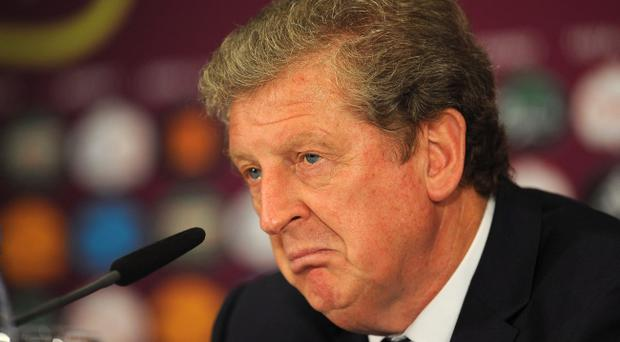 KIEV, UKRAINE - JUNE 24: In this handout image provided by UEFA, Coach Roy Hodgson of England talks to the media after the UEFA EURO 2012 Quarter Final match between England and Italy on June 24, 2012 in Kiev, Ukraine. (Photo by Handout/UEFA via Getty Images)