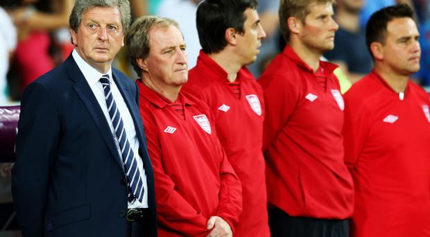 KIEV, UKRAINE - JUNE 24: Manager Roy Hodgson of England looks on prior to the UEFA EURO 2012 quarter final match between England and Italy at The Olympic Stadium on June 24, 2012 in Kiev, Ukraine. (Photo by Martin Rose/Getty Images)
