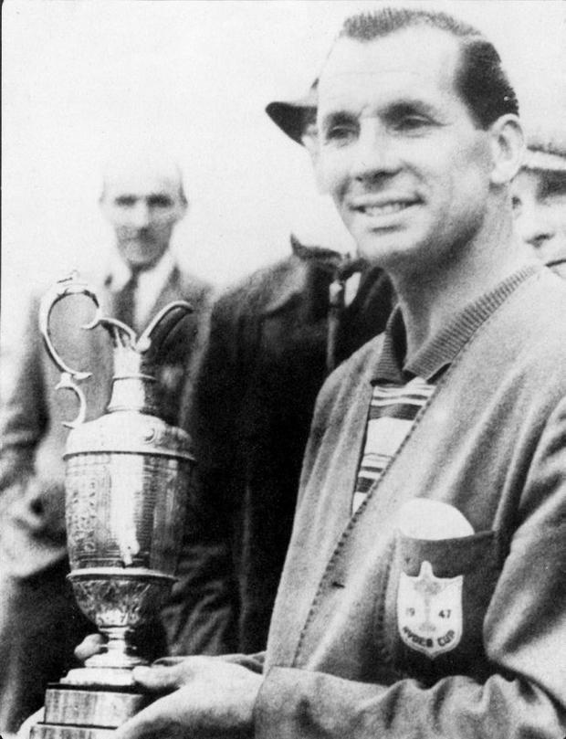 Max Faulkner, winner of the British Open Championship 1951 at Royal Portrush.