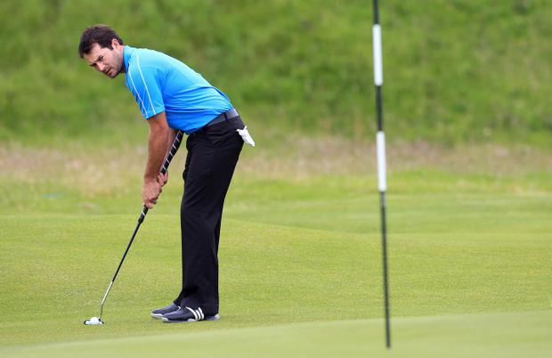 Gareth Maybin during practice at Royal Portrush