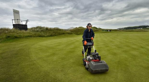 Preperations for the Irish Open 2012 at Royal Portrush