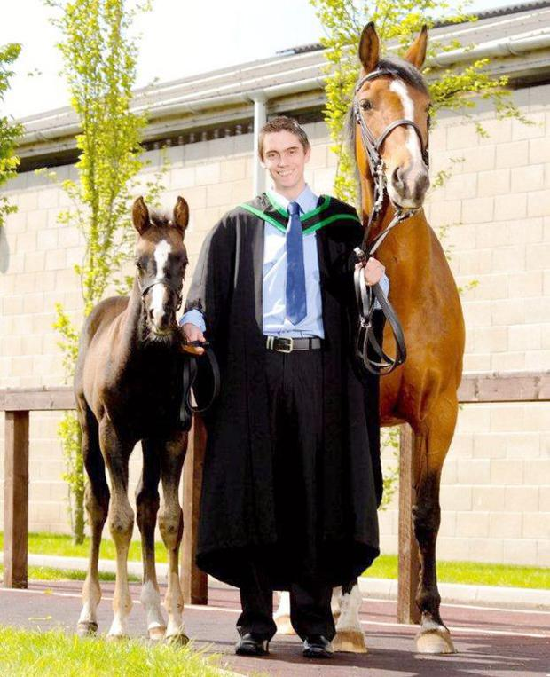 Andrew Ross has completed his three-year BSc Hons equine management degree programme