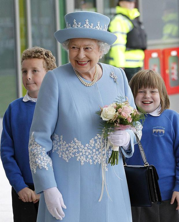 The Queen visits Enniskillen yesterday