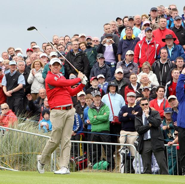 Thousands of golf fans turned out to watch the likes of Rory McIlroy in action