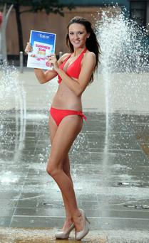 Falcon girl Ciara McStravick is looking forward to some splashing fun in summer sun as she says goodbye to the unpredictable Northern Irish weather and books a holiday from the brand new Falcon Holidays Summer Sun 2013 programme.