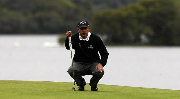 Jeev Milkha Singh is joint leader after day one of the Irish Open