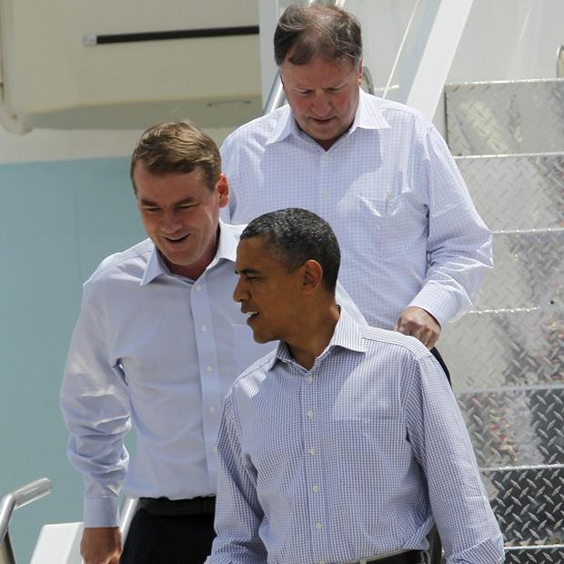 Barack Obama arrives in Colorado to survey damage from raging wildfires in the state (AP)