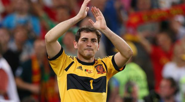 Iker Casillas of Spain