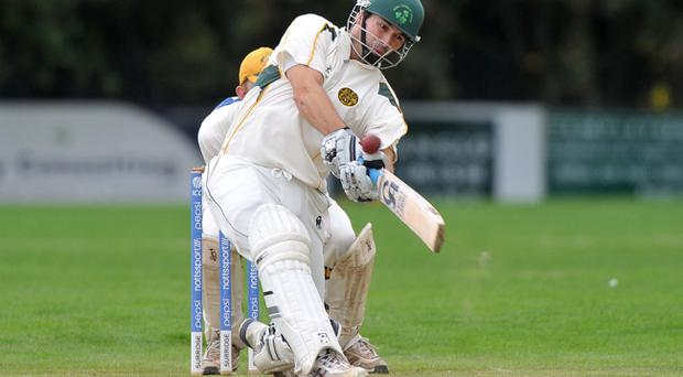Ryan Haire scored 73 as North Down hammered Lisburn by 142 runs in the Challenge Cup