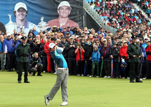 FLASHBACK TO 2012: Northern Ireland's Rory McIlroy plays on the 17th during day four of the Irish Open at Royal Portrush Golf Club, Portrush
