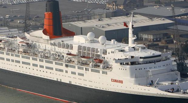 The QE2 liner is to become a floating hotel in Dubai