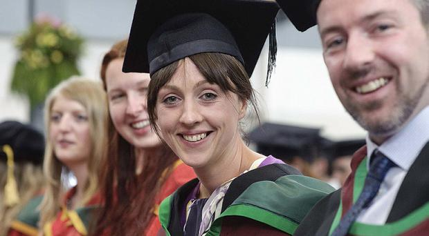 Julie McKendry from Antrim graduated today with an MSc degree in Applied Behavioural Analysis.