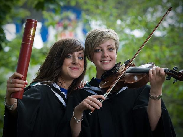 Diane McCullough and Emma Smith from Ballymena graduated with the degree of BMus.