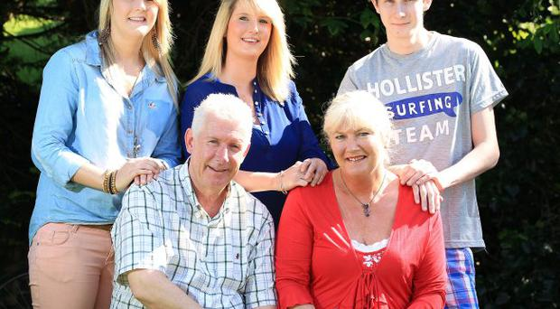 Family joy: John and Heather Lee with their children, from left, Kirsty (23), Natasha (21) and Matthew (21)