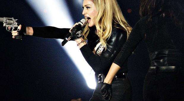 Madonna's tour truck carrying her sound system has overturned in Sweden