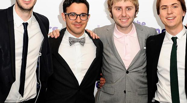 Blake Harrison, Simon Bird, James Buckley and Joe Thomas found fame in the British version of The Inbetweeners