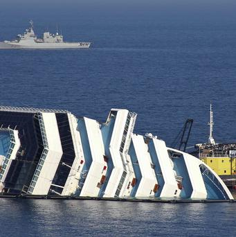 The Costa Concordia ran aground in January (AP)