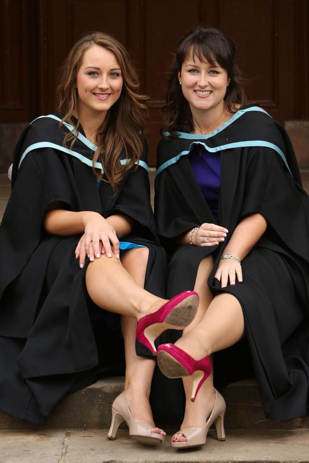It was a double celebration for the Nangle family from Londonderry today as sisters Emma and Cara both graduated from Queens University. Emma (left) graduated with a Law degree, while older sister Cara graduated from Medicine.