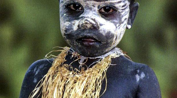 A Jarawa boy, one the tribe protected by an Indian Supreme Court ruling (AP)