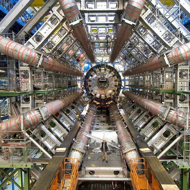Scientists at Cern say they have found a sub-atomic particle 'consistent' with the Higgs boson (Cern/PA)