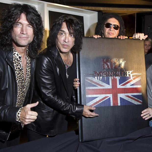 Kiss have launched their giant book in London