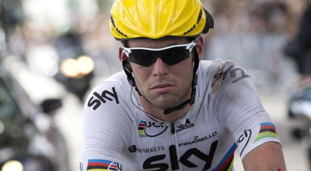 Mark Cavendish has recovered after yesterday's crash