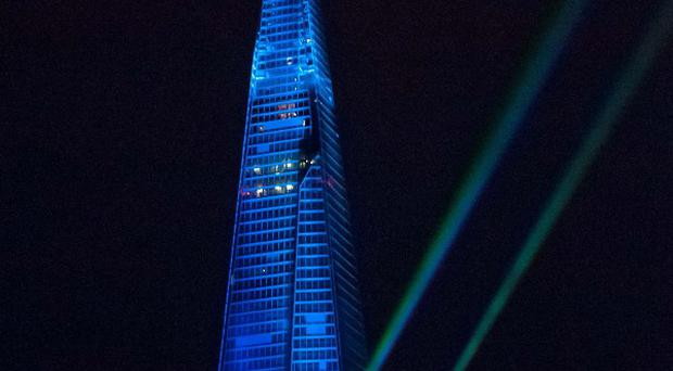 The laser show marking the opening of The Shard disappointed some people