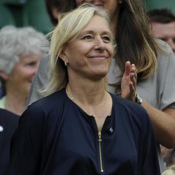 Martina Navratilova in the Royal Box during the 2012 Wimbledon Championships at the All England Lawn Tennis Club