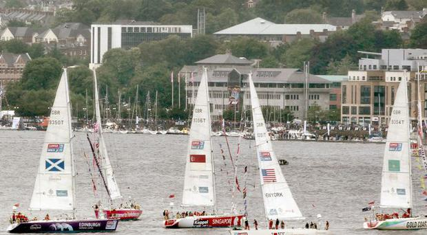 Clipper yachts leave Derry for the next stage of the race from Donegal to the Netherlands