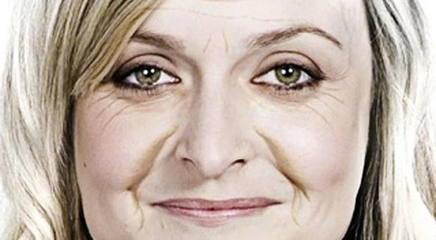 Fearne Cotton was digitally aged with wrinkles and sagging cheeks in a photo