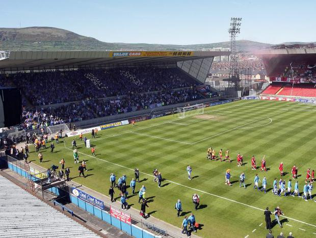 New look: Windsor Park is being redeveloped