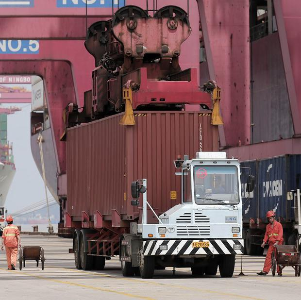 Analysts said the the import slowdown in China was greater than expected (AP)