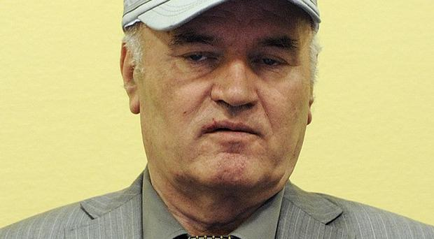 Former Bosnian Serb General Ratko Mladic has been taken unwell at his war crimes trial(AP)