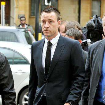 John Terry arrives at court for his trial this week