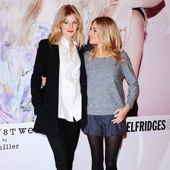 Sienna Miller's sister Savannah may have let slip the name of the star's new baby in a tweet