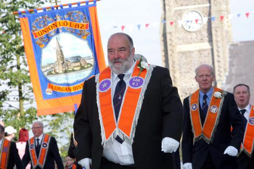 Boyne Star LOL 63 on parade through Lurgan during the Twelfth
