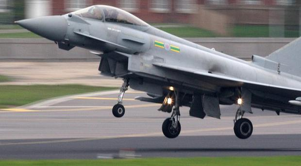 RAF Typhoons will patrol the skies above the Olympic Stadium