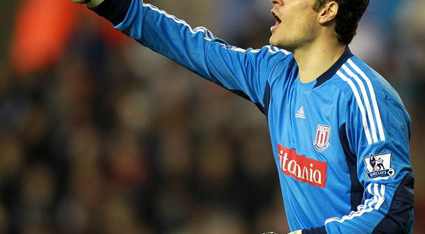 Asmir Begovic (pictured) will compete with Thomas Sorensen for the number one jersey at Stoke