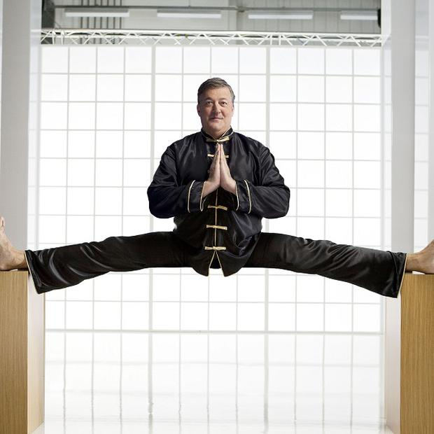 Stephen Fry shows off his physical skills in a new advert