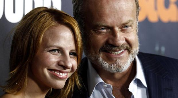 Kelsey Grammer and wife Kayte announced the birth of their daughter (AP)