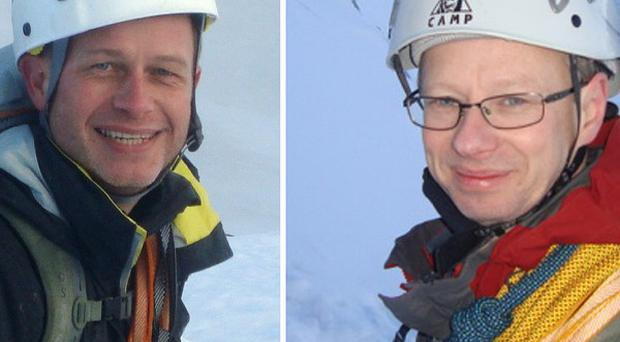 Steve Barber, left, and John Taylor were killed in an avalanche in the French Alps on Thursday