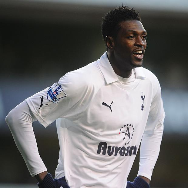 Emmanuel Adebayor might have to take a pay cut to seal a permanent move to Spurs