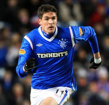 In limbo: Kyle Lafferty has been unable to feature for his new club, Swiss side Sion