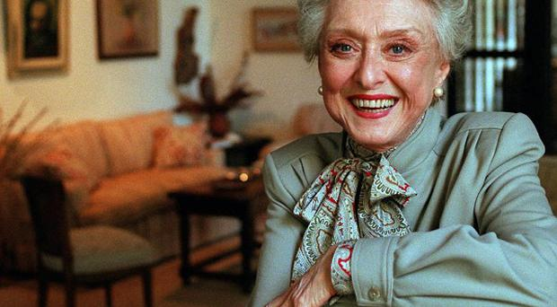 Actress Celeste Holm, pictured at a friend's home in California in 1997 (AP)