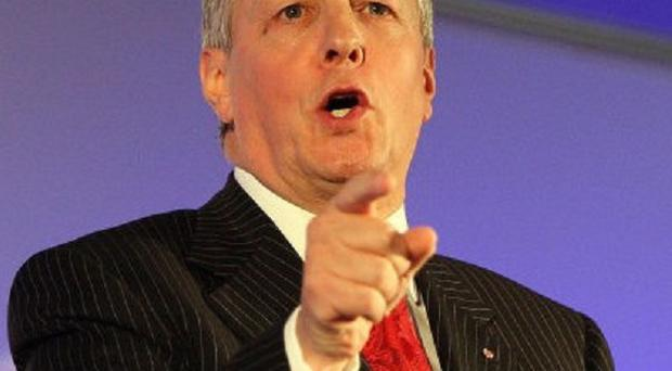 First Minister Peter Robinson suggested that a pit bull-type dog could be rehomed