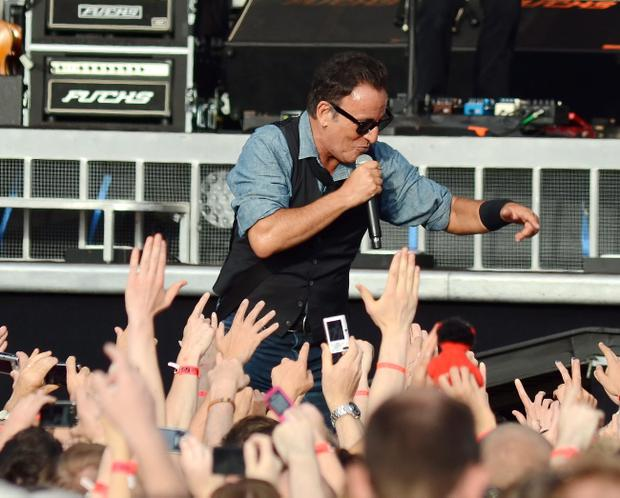Bruce Springsteen performs at The RDS with VIP guests such as Steven Spielberg & Daniel Day Lewis in the crowd, Dublin, Ireland - 17.07.12. Pictures: VIPIRELAND.COM