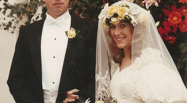 Hans Kristian and Eva Rausing on their wedding day (Family handout/PA)