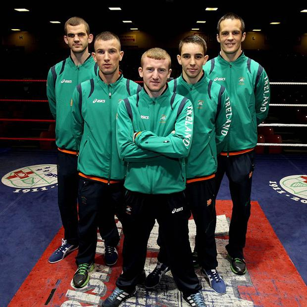 Darren O'Neill, far right, insists Darren Sutherland will be on the minds of the Irish boxing team in London