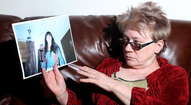 Denise's mother Elizabeth with her picture